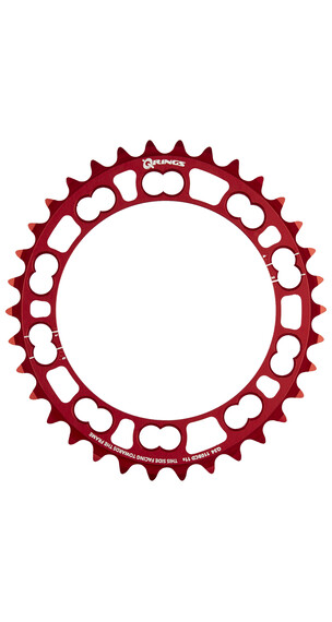 Rotor Q-Ring Kettenblatt innen 110 mm 5-Arm rot